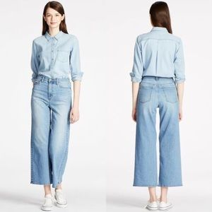 Uniqlo Wide Cropped Jeans